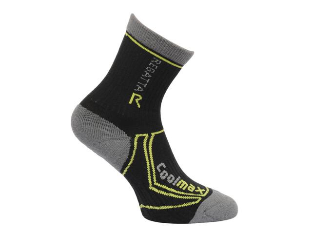 Regatta 2 Season Coolmax Trek & Trail Socks Kids Black/Oasis Green
